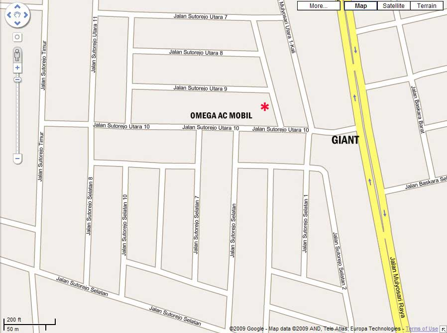 google map omega 3ab LOKASI